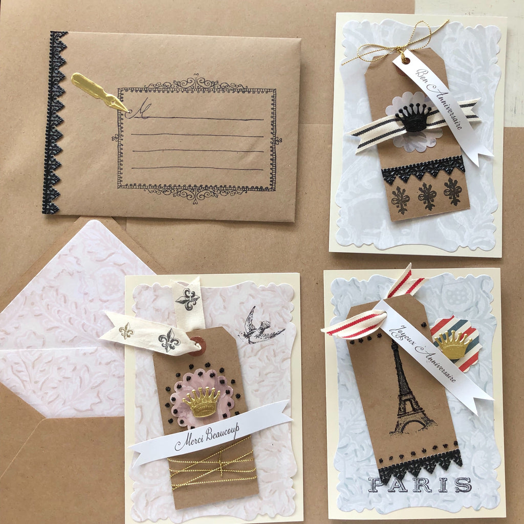 French Card Ephemera Kit