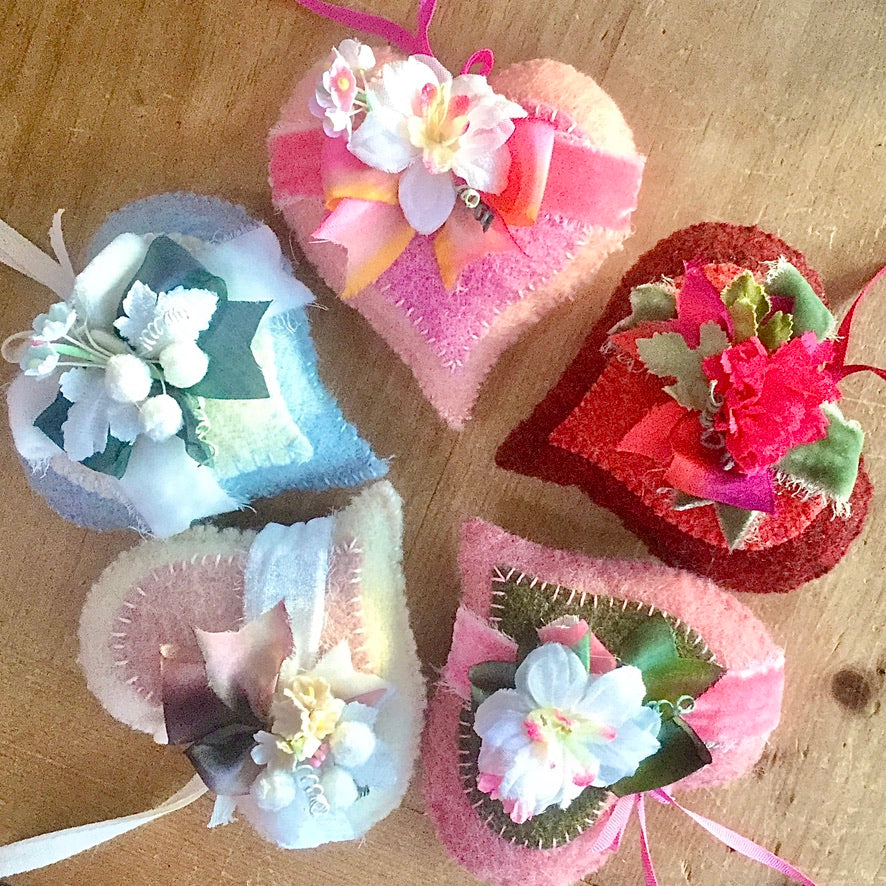 Cozy Wool Heart Sachet Workshop