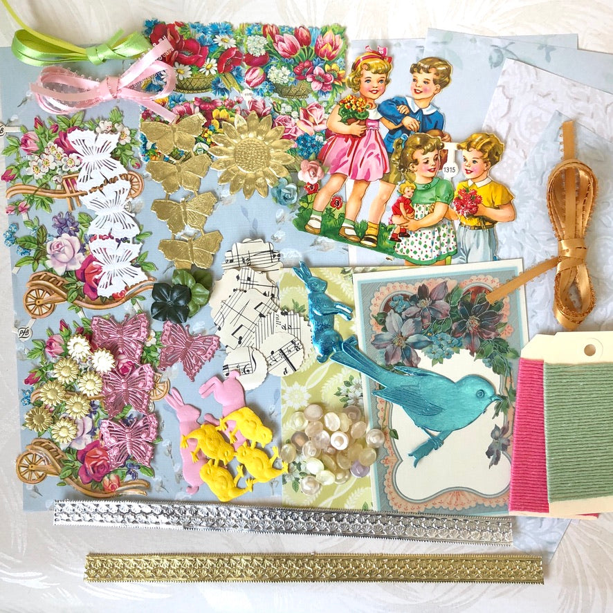 Spring Ephemera Scrap Collection