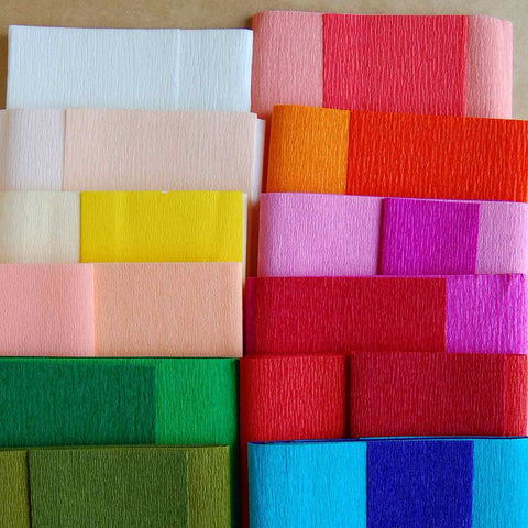 double sided crepe paper Kindly check with us the colour u want bfr ordering #crepepaper #kertastissue # tissuepaper #flowerpaper #craftpaper - buy gold leaf double sided crepe.