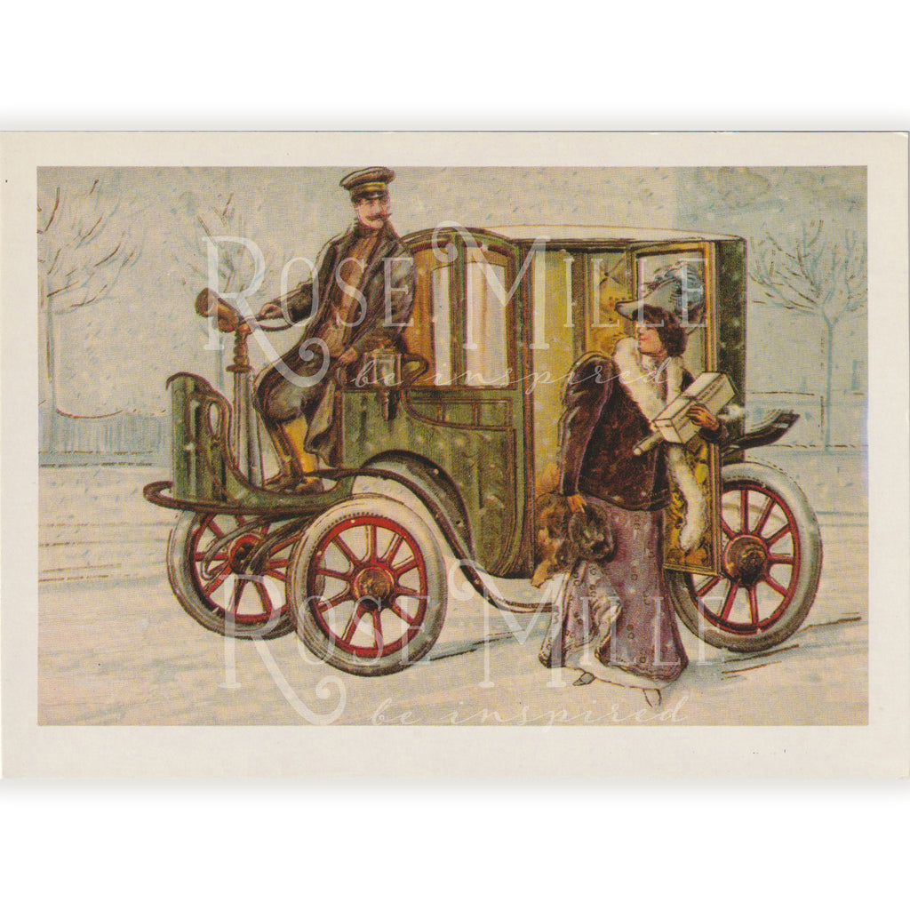 Vintage(reproduction) Post-Card Set, Future Transportation