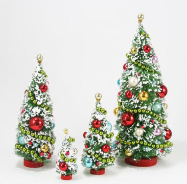 Decorated Retro Holiday Trees