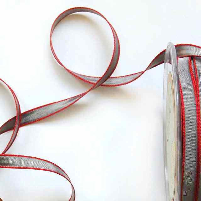 Gray_Red_Edged_Taffeta_1/4""