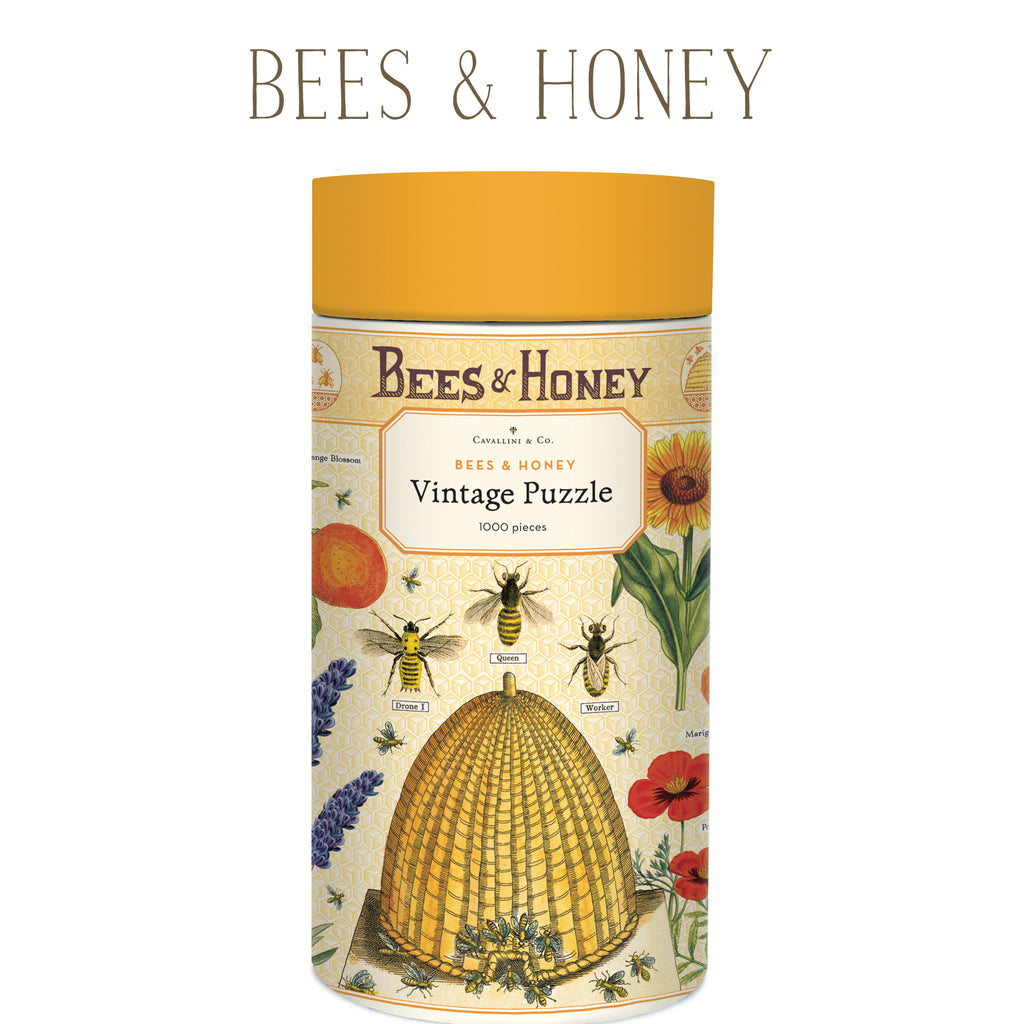 Bees & Honey Vintage Puzzle, by Cavallini
