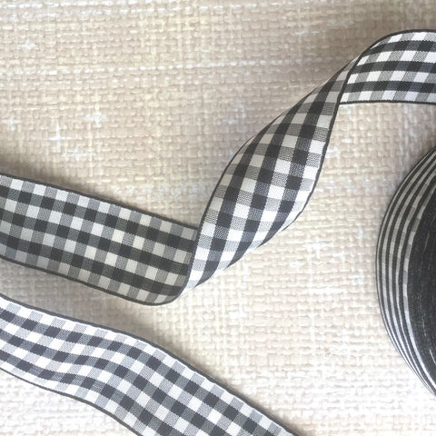 Check Taffeta Ribbon