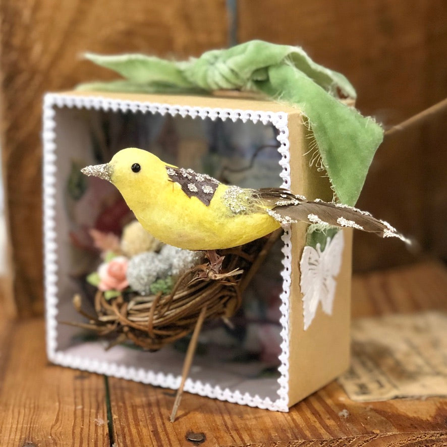 Spring Songbird Shadowbox