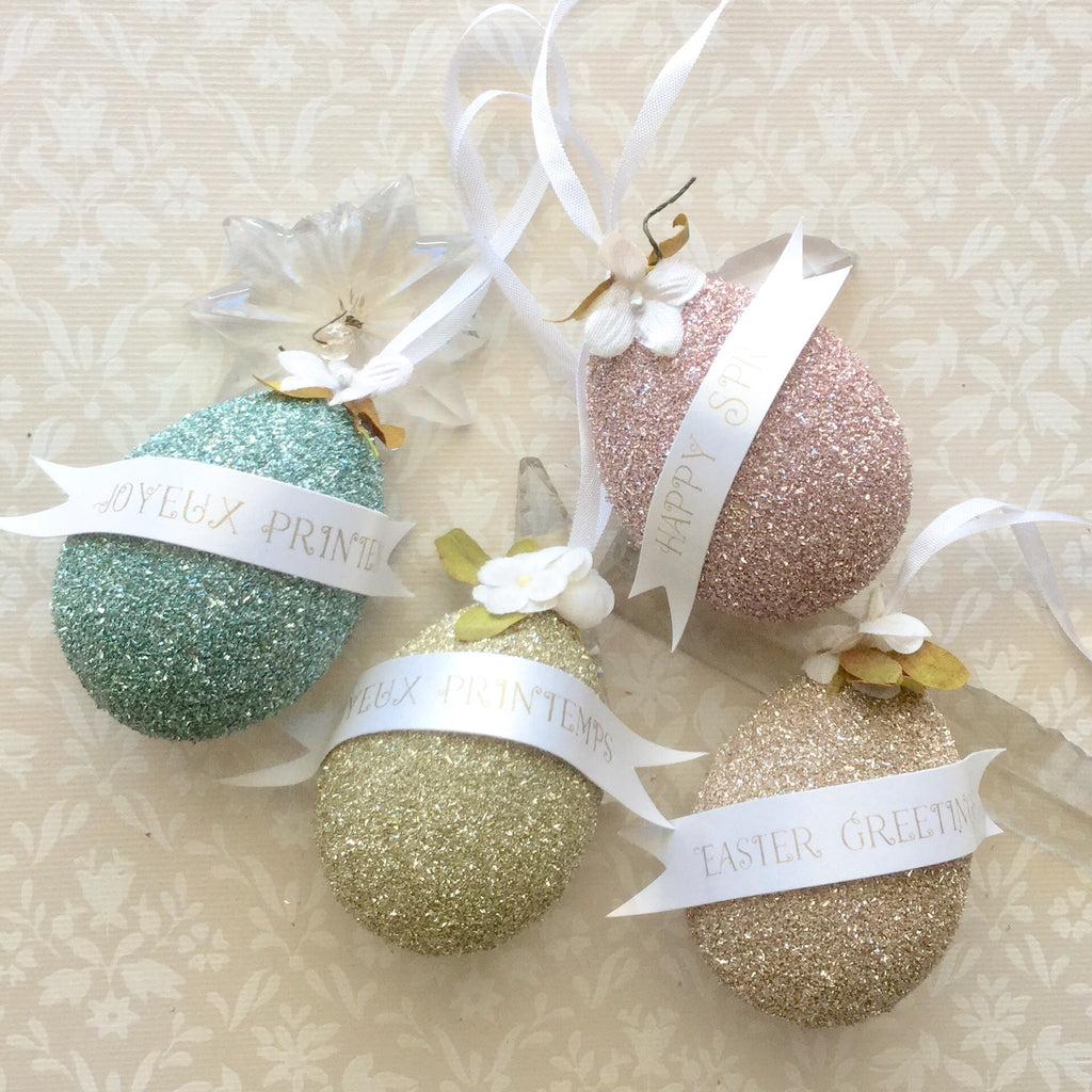 Mini-Make Workshop - Glittered Egg Ornaments