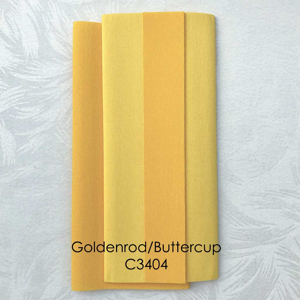 "Double Sided Doublette, German Crepe Paper, ""Gloria"""