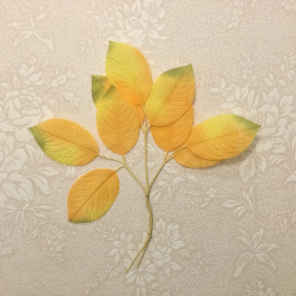 Vintage Rose Leaves