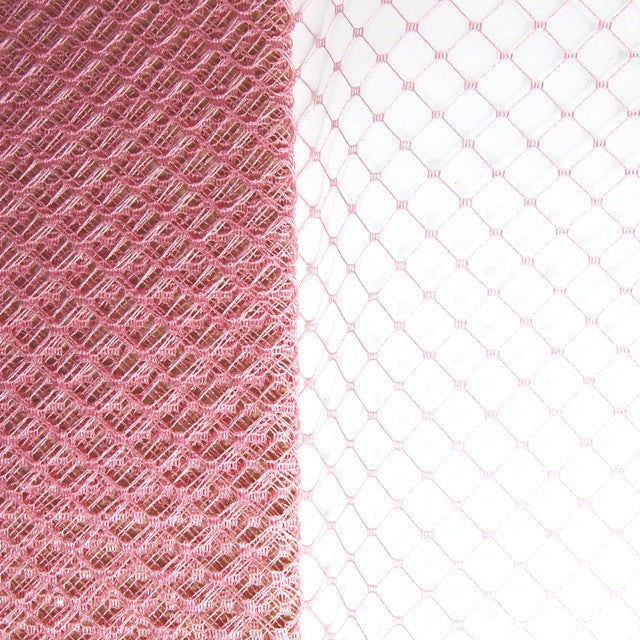 Chunky Square in Diamond Weave Veiling Netting - Birdcage