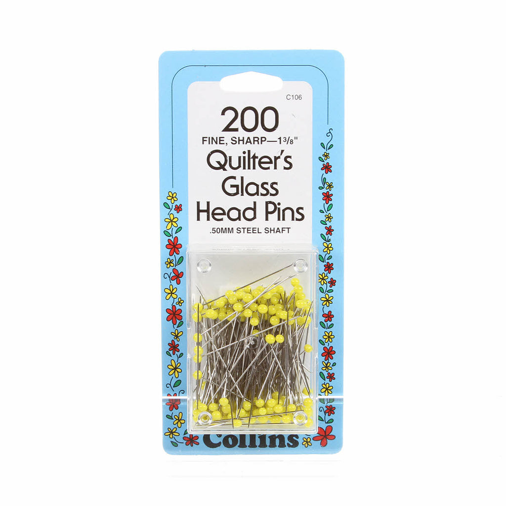 Collins Quilter's Glass Head Pins