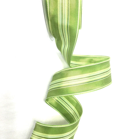 Striped Taffeta Riviera Wired Ribbon