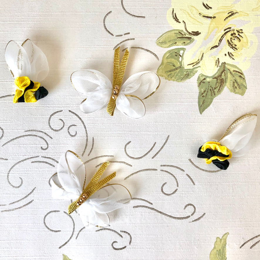 Ribbon Butterflies and Bumble Bees
