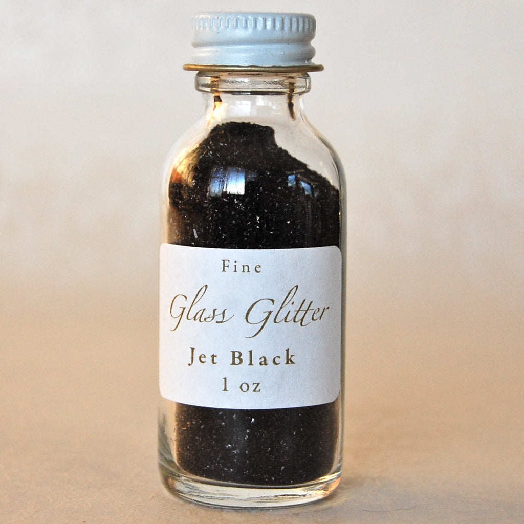 Black-Glass-Glitter-Bottle