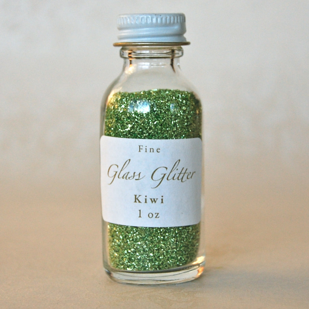Glass-Glitter-Kiwi-Green-Bottled