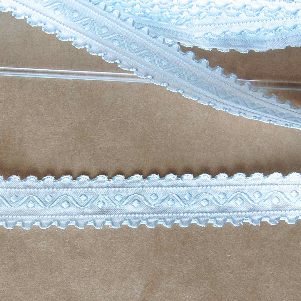 Embroidered Double Scallop Edge Ribbon