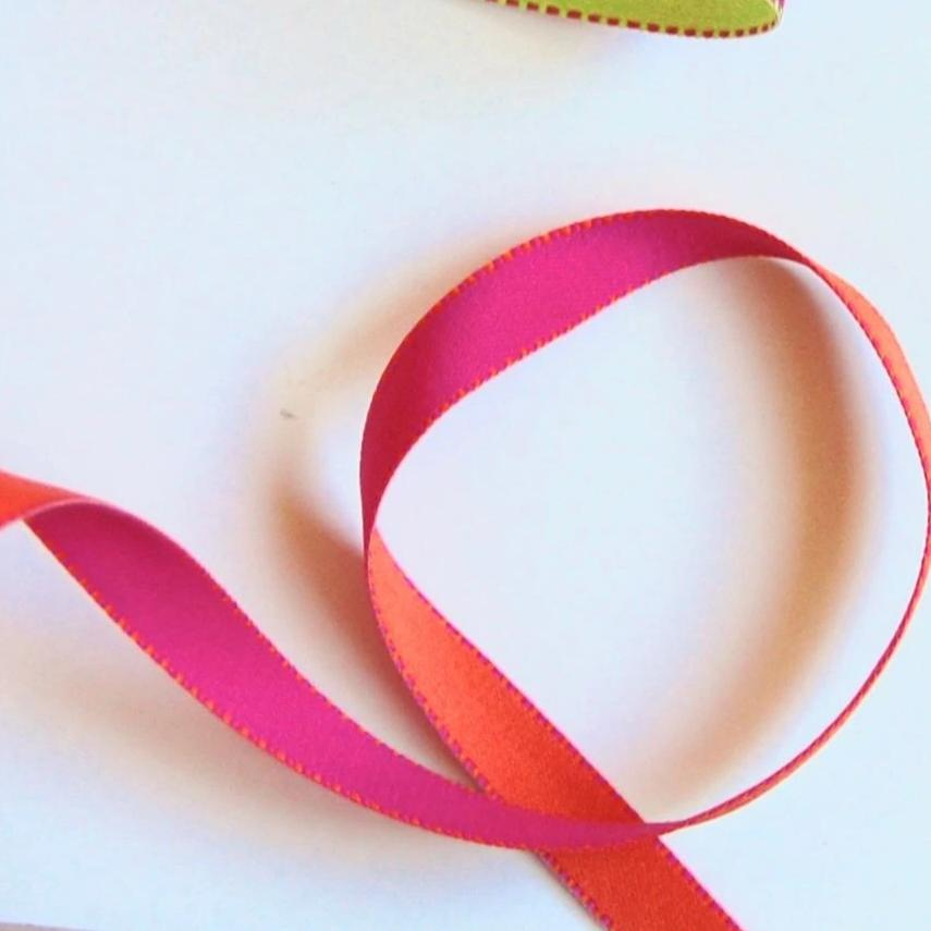 Reversible Solid & Dash Woven Ribbon