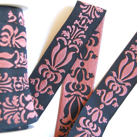 Fancy Flourish Woven Jacquard Ribbon