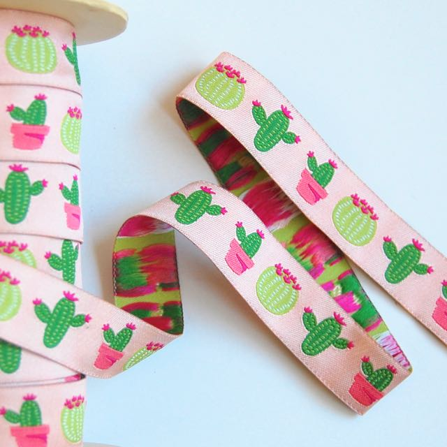 Cactus in a Row, Jacquard Ribbon