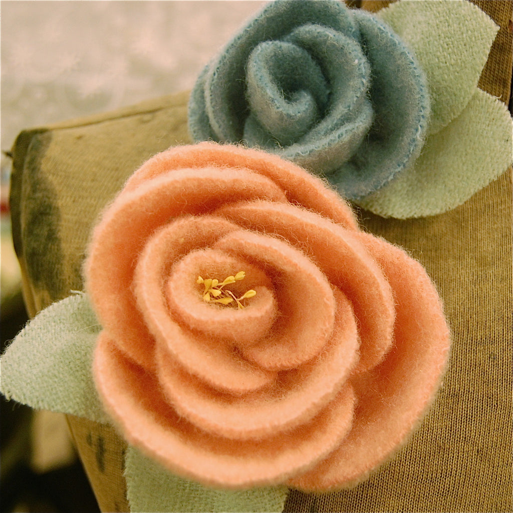 Wool Rose Pin Kit
