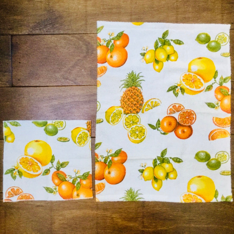 Vintage Citrus Terrycloth Kitchen Towel Set