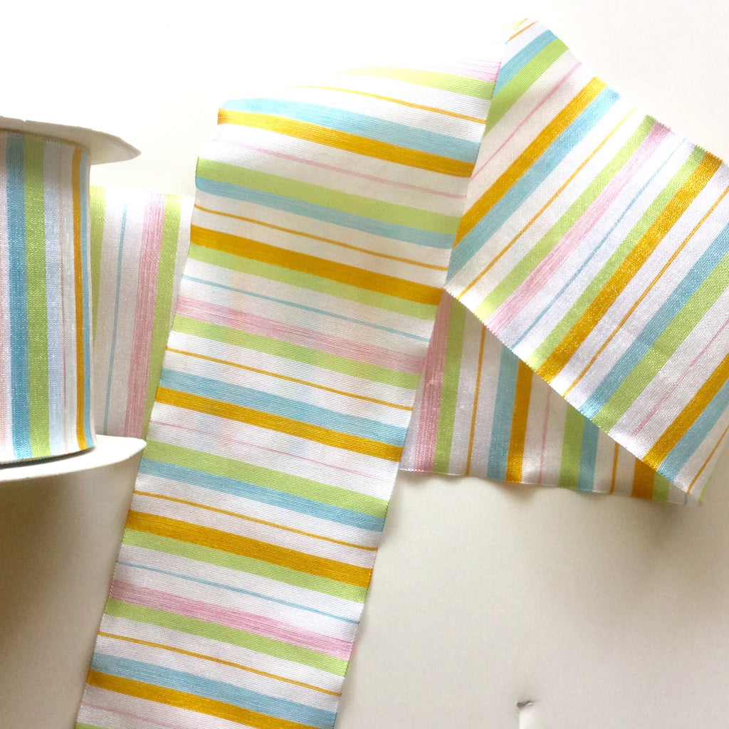 "Horizontal Stripped Ribbon ""Obi"""