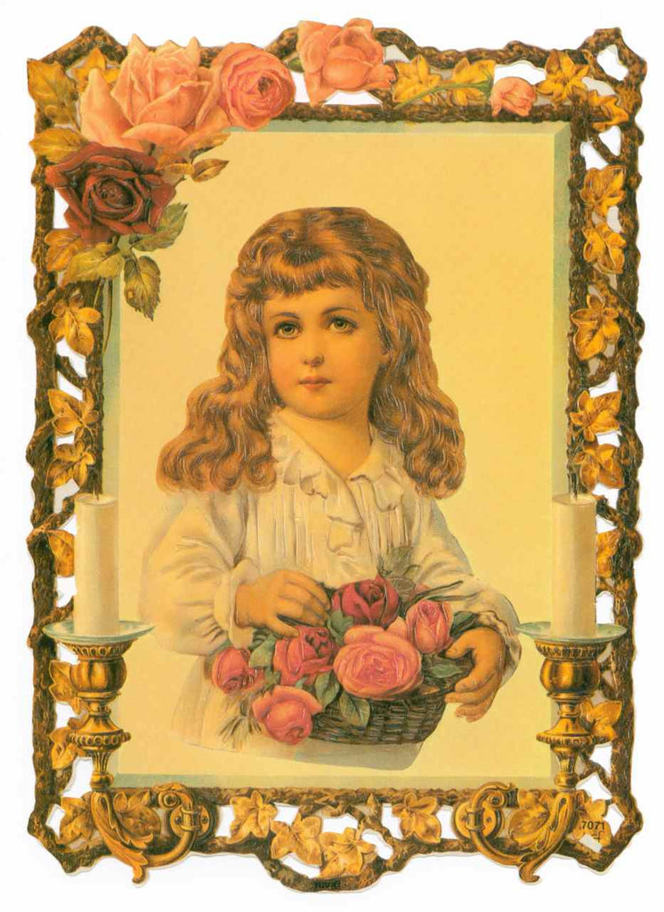 Framed in Roses Young Girl