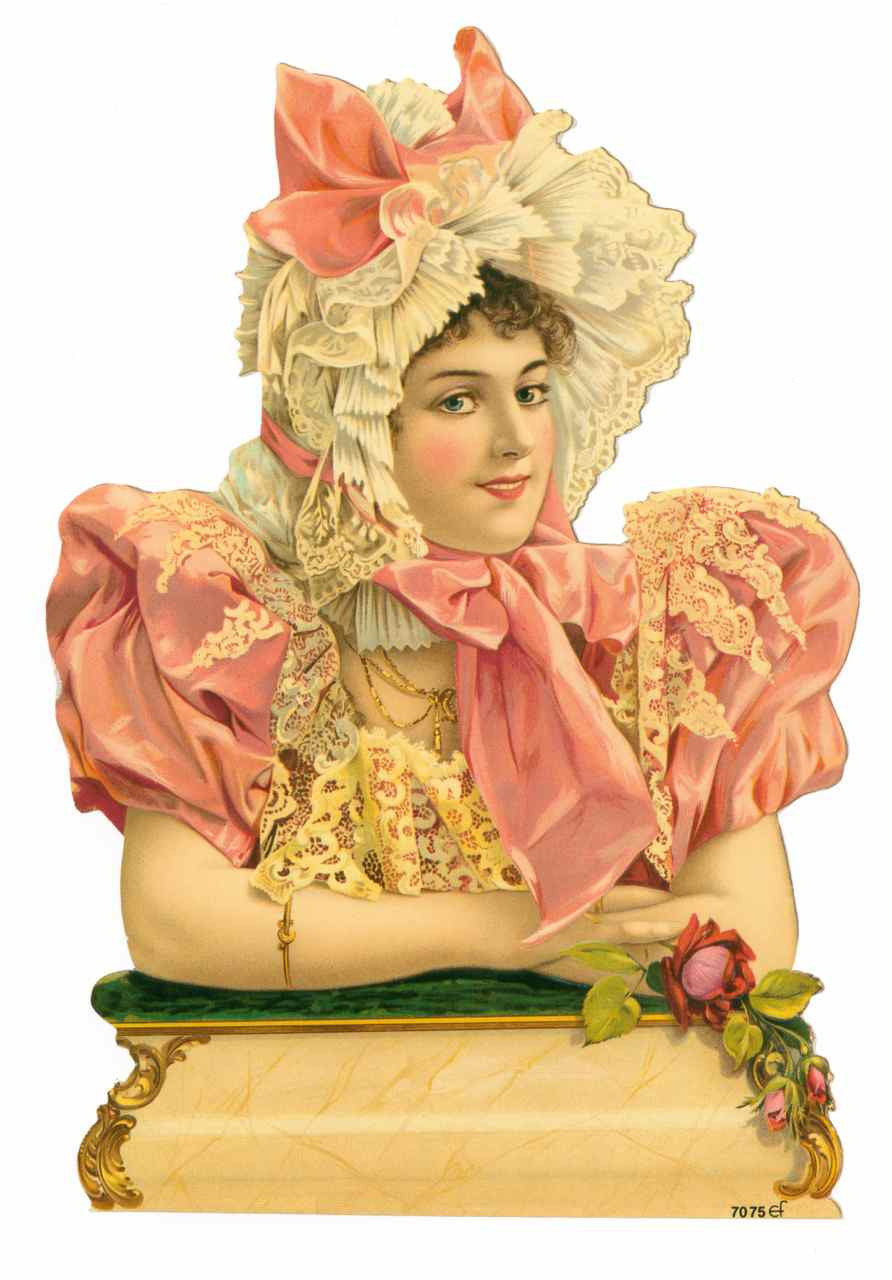 Ruffled Bonnet Woman