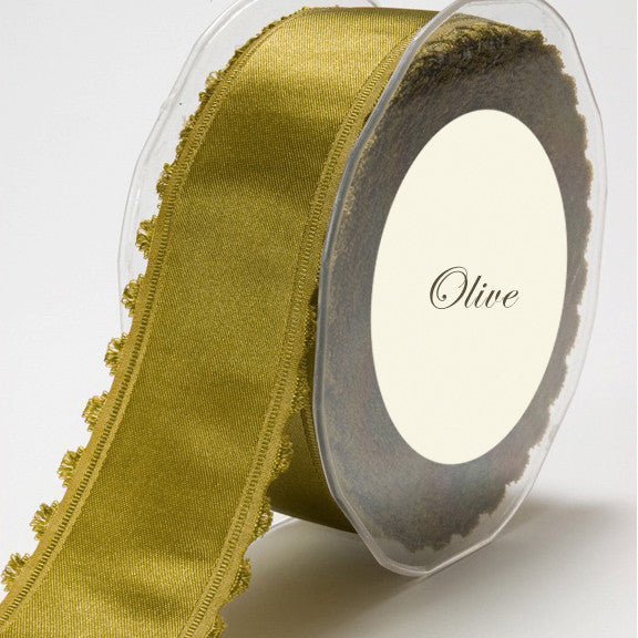 Fringed Edge Satin Ribbon