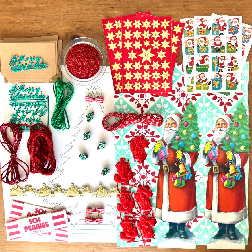Vintage Santa Ephemera Collection