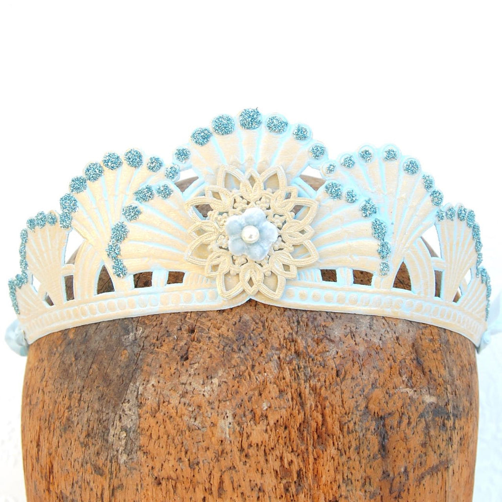 Glittered Fanfare Embossed Tiara