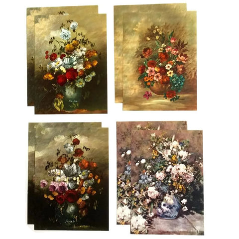 VIntage Floral Painting Miniature Reproductions