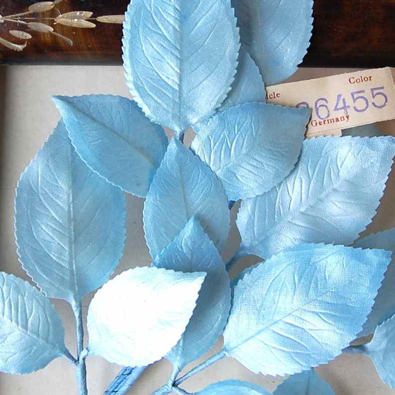 Pearlized Satin Vintage Millinery Leaves