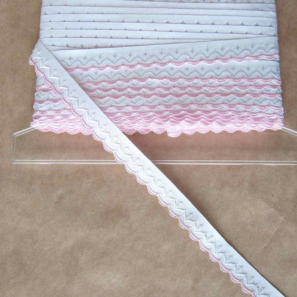 Embroidered Single Scallop Edge Ribbon