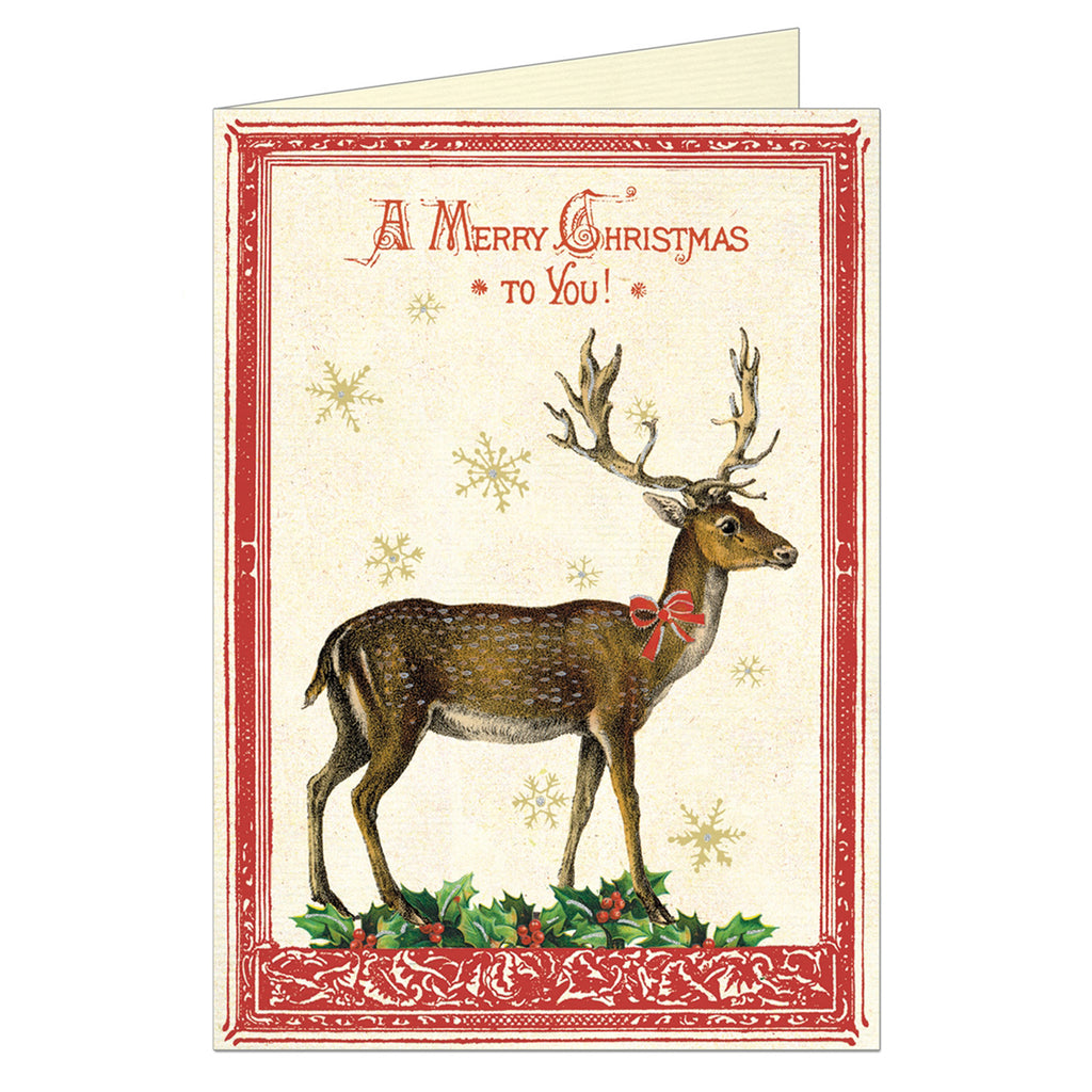Christmas Card by Cavallini, Christmas Deer