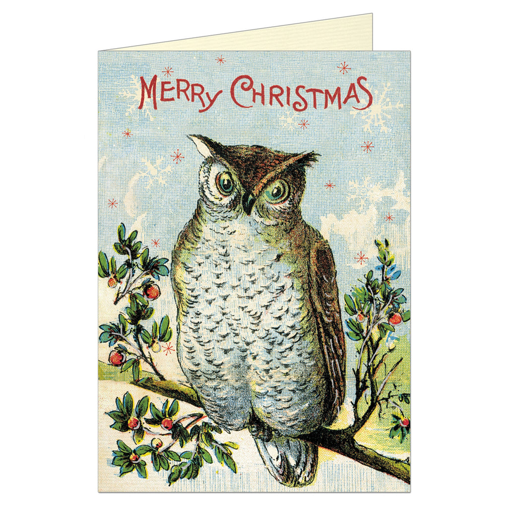 Christmas Card by Cavallini, Christmas Owl
