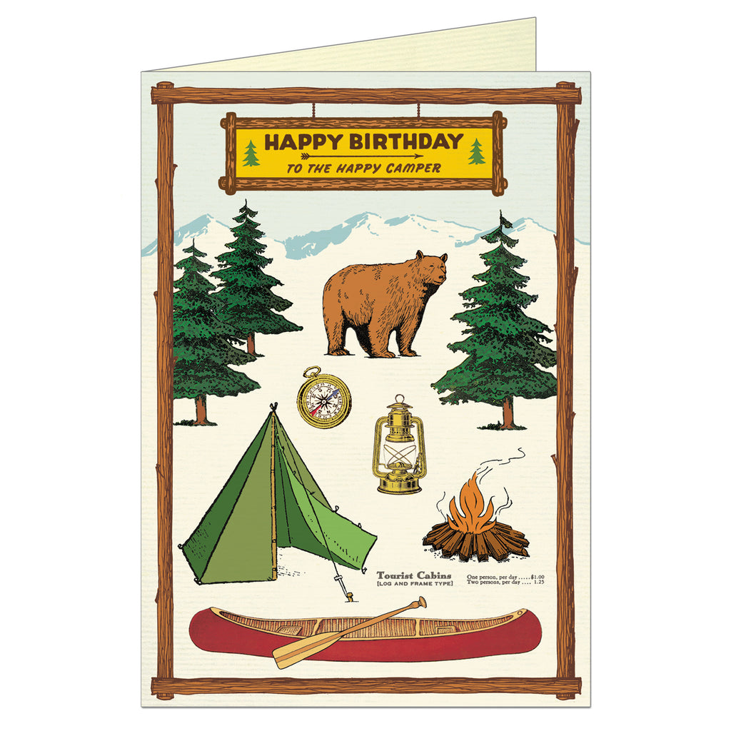 Happy Birthday Camping, Greeting Card