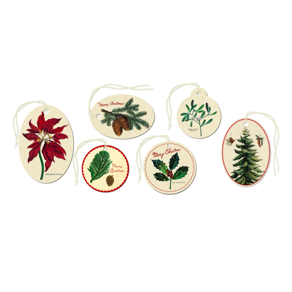 Vintage Botanical Christmas Gift Tags