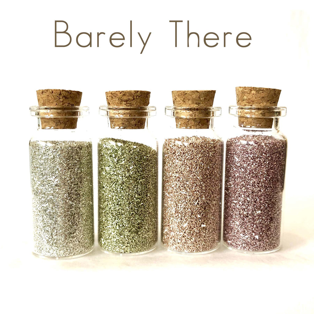 Glass Glitter Set of Four