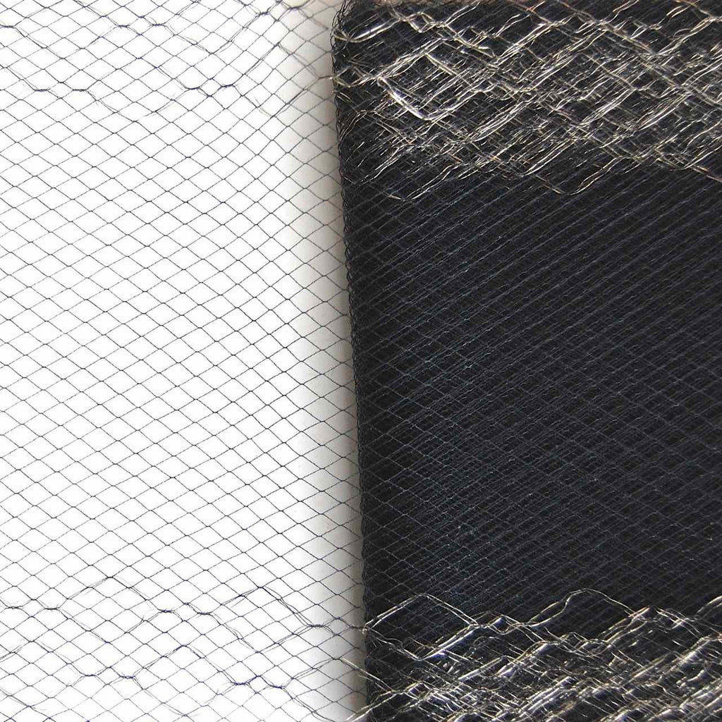 Gold Metallic Borders on Black Vintage Silk Netting