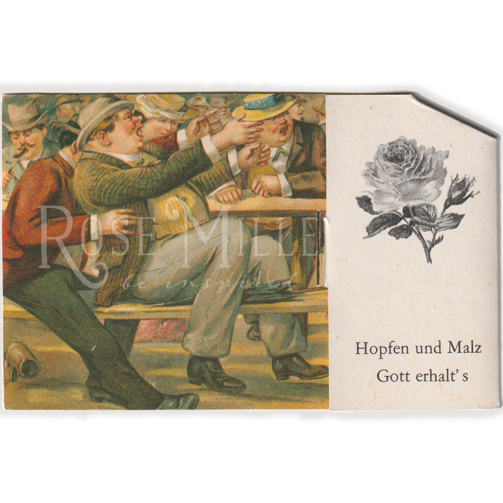 Vintage German Bar Scene Pop-up  Card