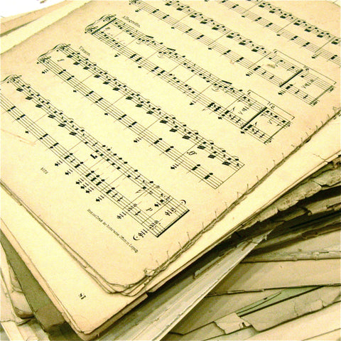 Sheet Music Pages - Vintage