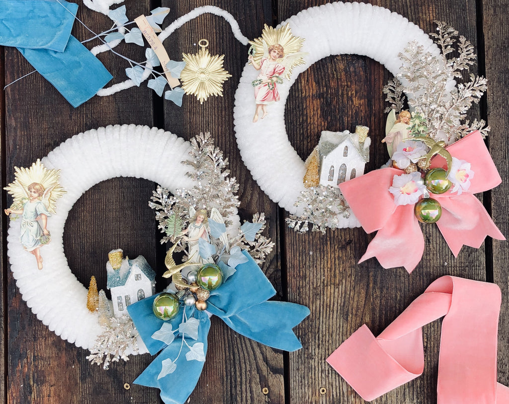 Vintage Chenille Wreath Tutorial - Digital Download