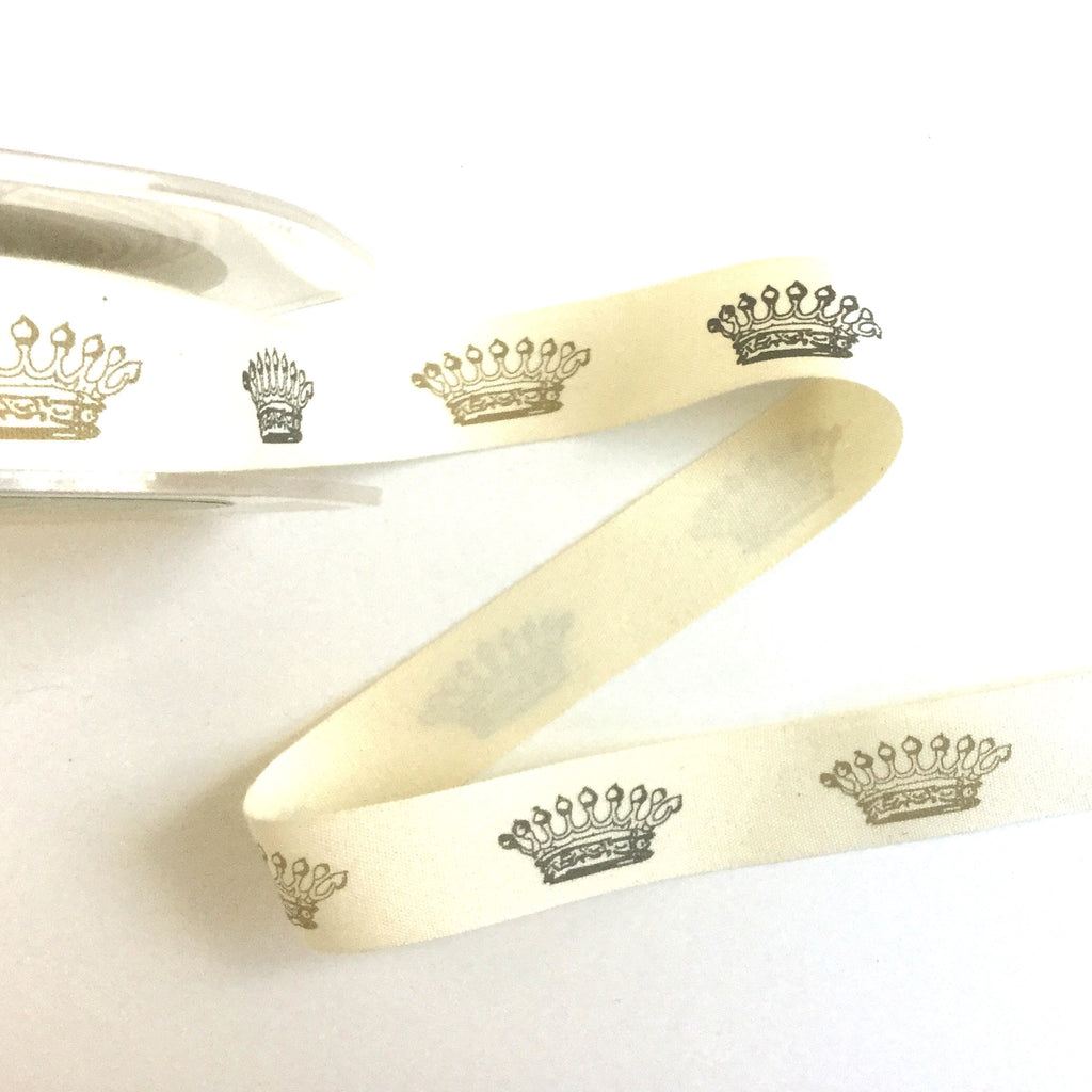Crown printed ribbon
