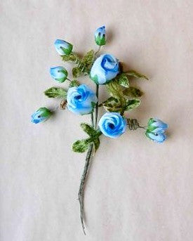 Blue Rose Spray, Millinery Flowers