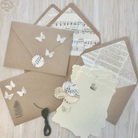 Lined Envelopes with Flat Cards