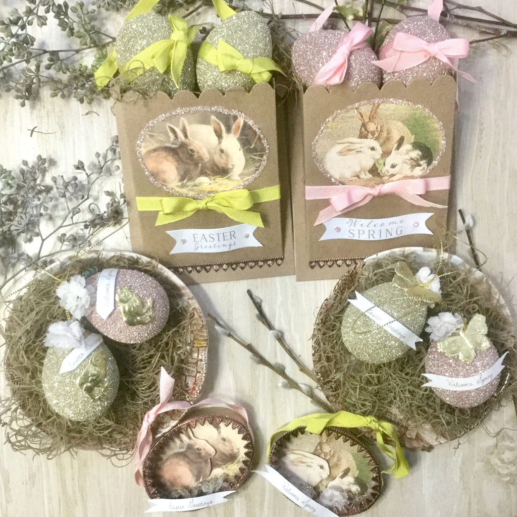 Spring Bunny Rabbit Ornament Kit