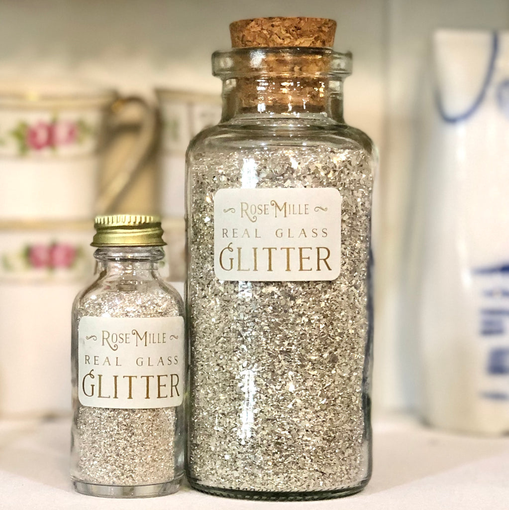 Glass Glitter in Apothecary Jar