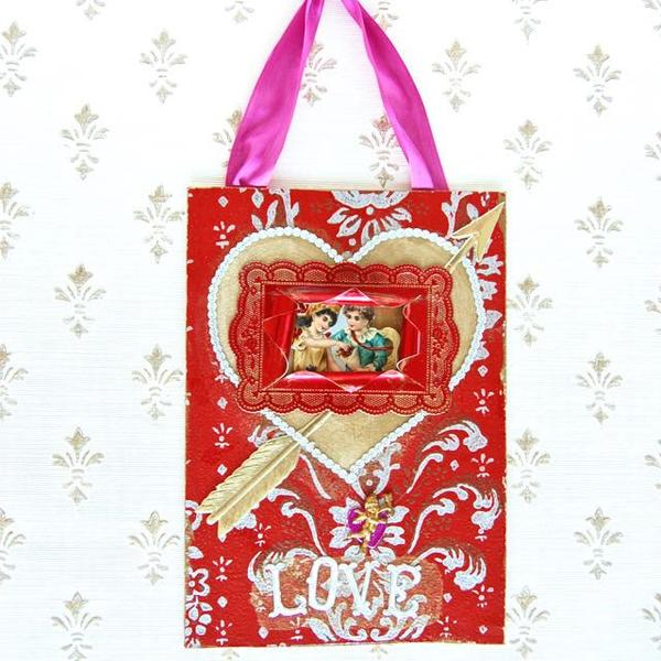 Vintage Valentine Hanging Greeting Kit