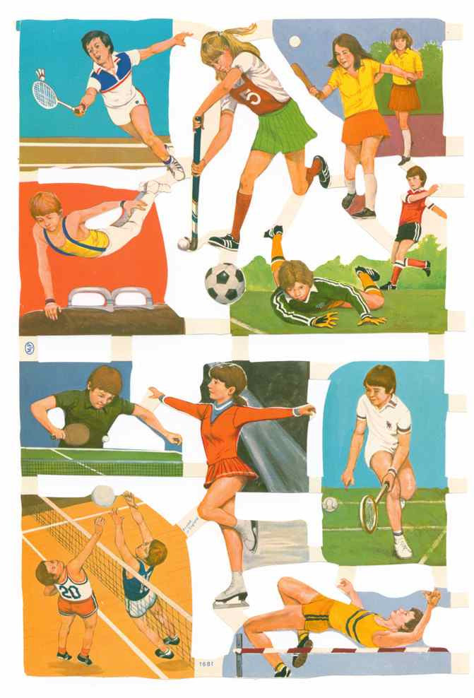Scrapbook Pictures, Playing Sports